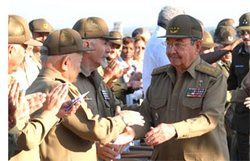 In Havana Raul Castro Presided over State Security Anniversary Ceremony
