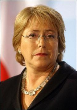 Michelle Bachelet President of the Republic of Chile to Cuba