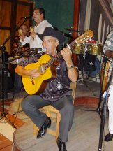 Cuban singer songwriter Eliades Ochoa paid tribute in Galicia