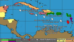 Bulletin Hurricane Dean Advisory number 17, Dean moving away from Lesser Antilles and strengthening
