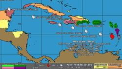 Bulletin Hurricane Dean Advisory number 17, Dean moving away from Lesser Antilles and strengthening