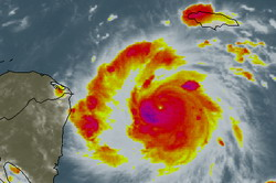 Felix headed for northeastern Nicaragua and eastern Honduras