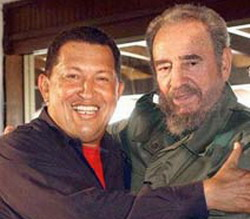 President Fidel Castro sends his Venezuelan counterpart a letter urging him to continue fighting Imperialism