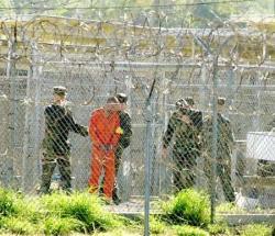 A prisoner in Guantanamo Bay