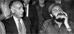 Herbert Matthew and Fidel Castro