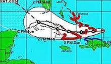 National Defense Staff declared the alert stage today for the eastern provinces for Cuba