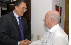 Jose Ramon Machado Ventura, Cuban First VP Met with former Prime Minister of Saint Lucia