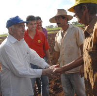Cuba First Vice President Machado Ventura in Sancti Spiritus