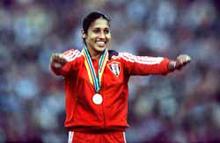 La atleta cubana Maria Caridad Colon Mujer Continental del Deporte en 2009