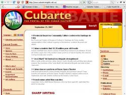 In Cubarte portal A hundred and six Cuban institutions registered.