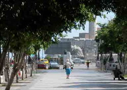 Summer book fair in Havana: reading in the Prado