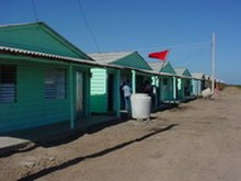 Finished the first provisional houses for the families whose homes were lost because of Paloma Hurricane