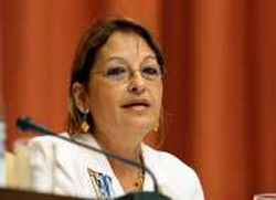 Yadira Garcia Vera, Cuba's Basic Industry Minister assisted to the 6th Doha Conference on Natural Gas