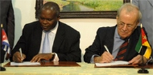 Cuba and Mozambique Sign Cooperation Accord in Havana