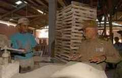 Cuban Vice President Juan Almeida Bosque visited two construction materials plants in Central Cuba