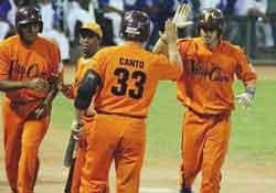 baseball naranja