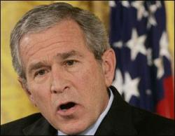US President George W. Bush is desperate because he failed with Cuba