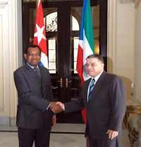 Guinea Top Diplomat Meet Cuban Peer