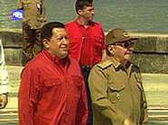 President Hugo Chavez inaugurates a monument dedicated to independence leader Francisco Miranda in Havana