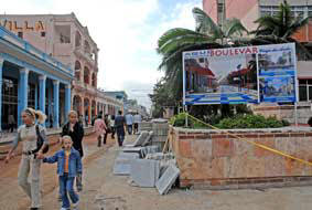 In Cuba Boulevard construction started in Ciego de Avila City