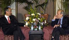Presidente guatemalteco converso con titular del Parlamento cubano