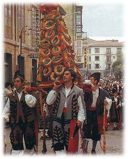 Typical Costumes from Asturias in Cuba