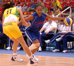 In Olympic Warm-up Brazil's Women National Basketball Team Loses to Cuba