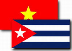 Vietnamese Communist Official received by Esteban Lazo, member of the Political Bureau of the Cuban