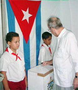 Voters record at cuban polls