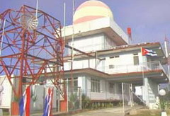 Meteorological radar station in Pylon, Cuba automated