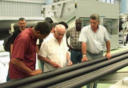 Eastern cuban pipe factory boosts water projects