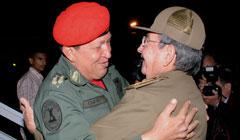 President Hugo Chavez makes a surprise visit to Cuba
