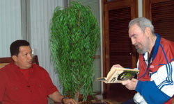 Fidel Castro and Hugo Chavez talks over four hours in Havana