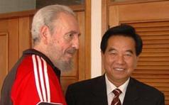 Fidel y dirigente chino
