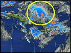 An area of disturbed weather has formed over Eastern Cuba