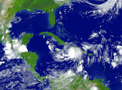 Very near Gustav to Cuba in Gulf of Mexico