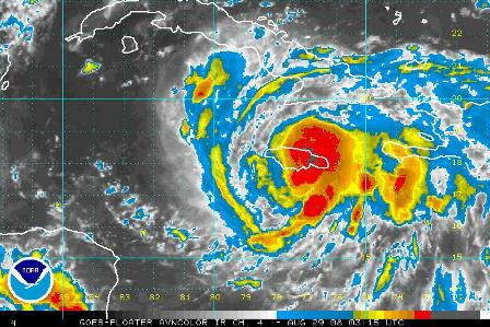 Gustav Could Be Hurricane Again and moving to the west in the Caribbean Sea south of Cuba
