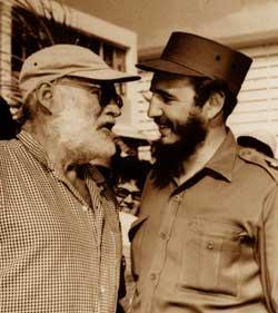 Hemingway & Fidel Castro 1960