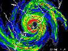 Hurricane radar image