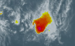Ingrid reduced to a tropical depression with a few squalls