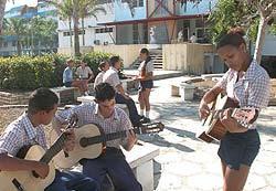 In Cuba Jose Marti Art Instructors Brigade in 50th Anniversary Guerilla
