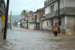 Heavy rains were reported over the past 24 hours in Cuban Province of Holguin