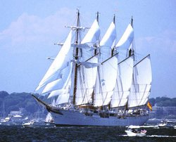 Juan Sebastian de Elcano training ship of the Spanish armada was officially welcomed in the port of Havana