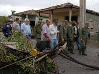 Cuban First Vice President Meets Evacuees from Area Hit by Hurricane Paloma