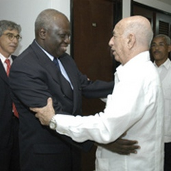 Primer vicepresidente cubano recibe al director general de la FAO Jacques Diou