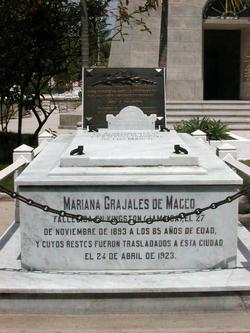 Mariana Grajales in the 193 anniversary of her birth