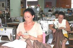 In Ciego de Avila Cuba Promote in blind from incorporation of women to the employment