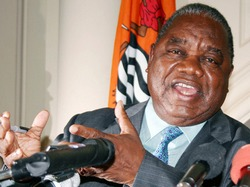 President of Zambia, Rupiah Banda, met with a visiting delegation of the Cuban Communist Party