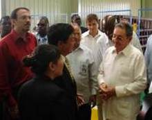 Raul Castro Tours Angola Industrial facilities