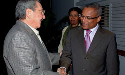 Cuban President Raul Castro met with Cape Verdes Prime Minister